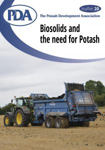 Leaflet 20 - Biosolids and the Need for Potash