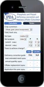 PDA-calculator