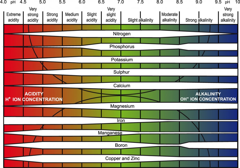 detailed Truog pH chart