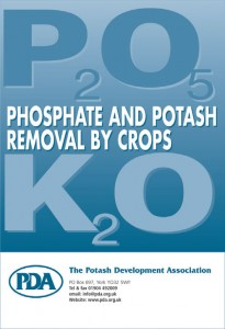 phosphate and potash removal by crops